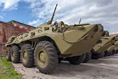 装甲运兵车BTR-80 图库摄影
