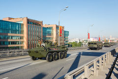 装甲运兵车BTR-82A 免版税图库摄影