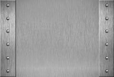 装甲金属片铆钉纹理 免版税库存照片