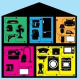 装置在房子里 免版税库存照片