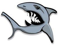 装腔作势地说的开放鲨鱼 库存照片
