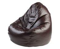 装豆子小布袋棕色椅子 免版税库存图片