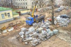装货建筑材料 库存照片