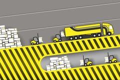 装载卡车在库存 库存例证