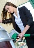 装载的加油站 库存图片
