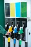 装载的加油站 图库摄影