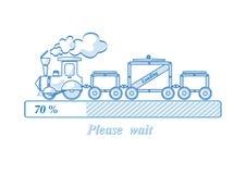 装载的火车 免版税库存图片