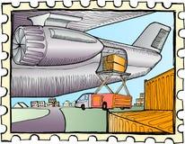 装载的航空器货物 免版税库存照片