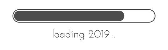 装载的2019新年灰色创造性的欢乐横幅 皇族释放例证
