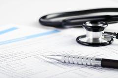 装载的医疗表单 免版税库存图片
