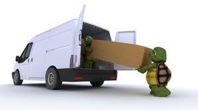 装载草龟有篷货车 皇族释放例证
