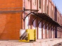 装载铁路的码头 免版税库存照片
