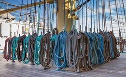 装配帆柱大一艘高船 库存图片