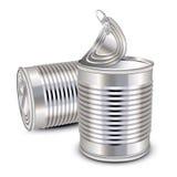 装食物锡于罐中