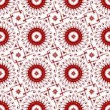 装饰东方皇家葡萄酒阿拉伯朱红色的花卉无缝的抽象样式纹理墙纸 向量例证