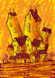 装饰为吸收并保留日光热度而设计的房屋 免版税库存图片