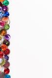 装饰五颜六色的葡萄酒缝合的按钮或剪贴薄按钮 图库摄影