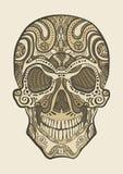 装饰人的头骨 库存图片