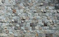 装饰从正方形分开您的d的石砖墙纹理 库存图片
