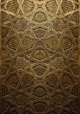 装饰伊斯兰教的木艺术门 免版税库存照片