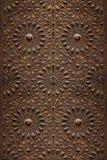 装饰伊斯兰教的木艺术门 库存图片