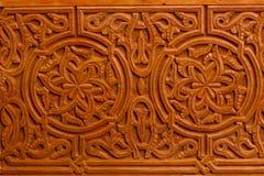 装饰伊斯兰教的木艺术门 库存照片
