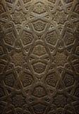 装饰伊斯兰教的木艺术 图库摄影