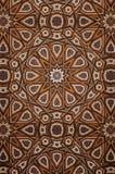 装饰伊斯兰教的木艺术 免版税库存照片