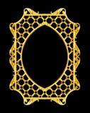 装饰元素,葡萄酒金框架花卉设计 免版税库存图片