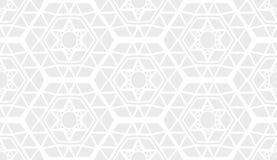 装饰几何现代浅灰色的样式 库存例证