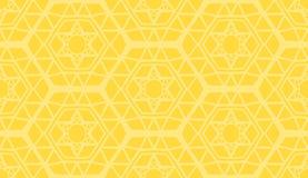 装饰几何现代黄色样式 皇族释放例证