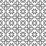装饰几何重复无缝的传染媒介样式背景的星部族叶子叶子花卉花锦缎漩涡书法 库存照片