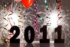 装饰前夕新年度 库存照片