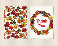 装饰卡片感谢您 免版税库存照片