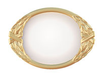 装饰卵形金框架 库存图片