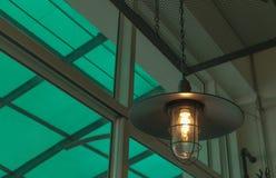 装饰古色古香的爱迪生样式电灯泡反对 库存照片