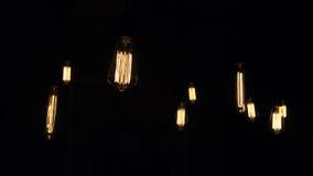 装饰古色古香的爱迪生样式电灯泡 免版税图库摄影