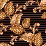 装饰古铜色花卉元素 库存照片