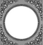 装饰品元素框架,葡萄酒银色花卉 库存图片