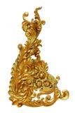 装饰品元素,葡萄酒金子花卉设计 免版税库存图片
