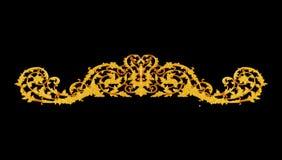 装饰品元素,葡萄酒金子花卉设计 库存照片