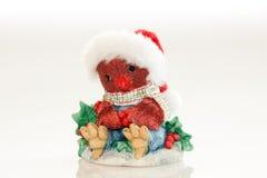 装饰品猫头鹰圣诞老人 库存照片