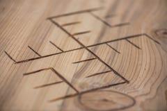 装饰品被刻记入木头 库存图片