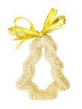 装饰品金子圣诞树 免版税库存照片