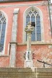 装饰喷泉雕象 免版税库存照片