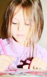 装饰图画女孩标记 库存照片