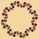 装饰圆的框架由花卉元素做成 向量例证