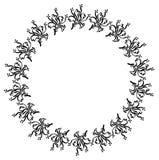 装饰圆的框架 免版税库存照片
