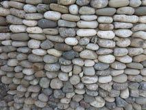 装饰圆的石墙表面的样式 库存图片