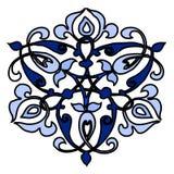 12装饰圆的花剪影样式 免版税库存图片